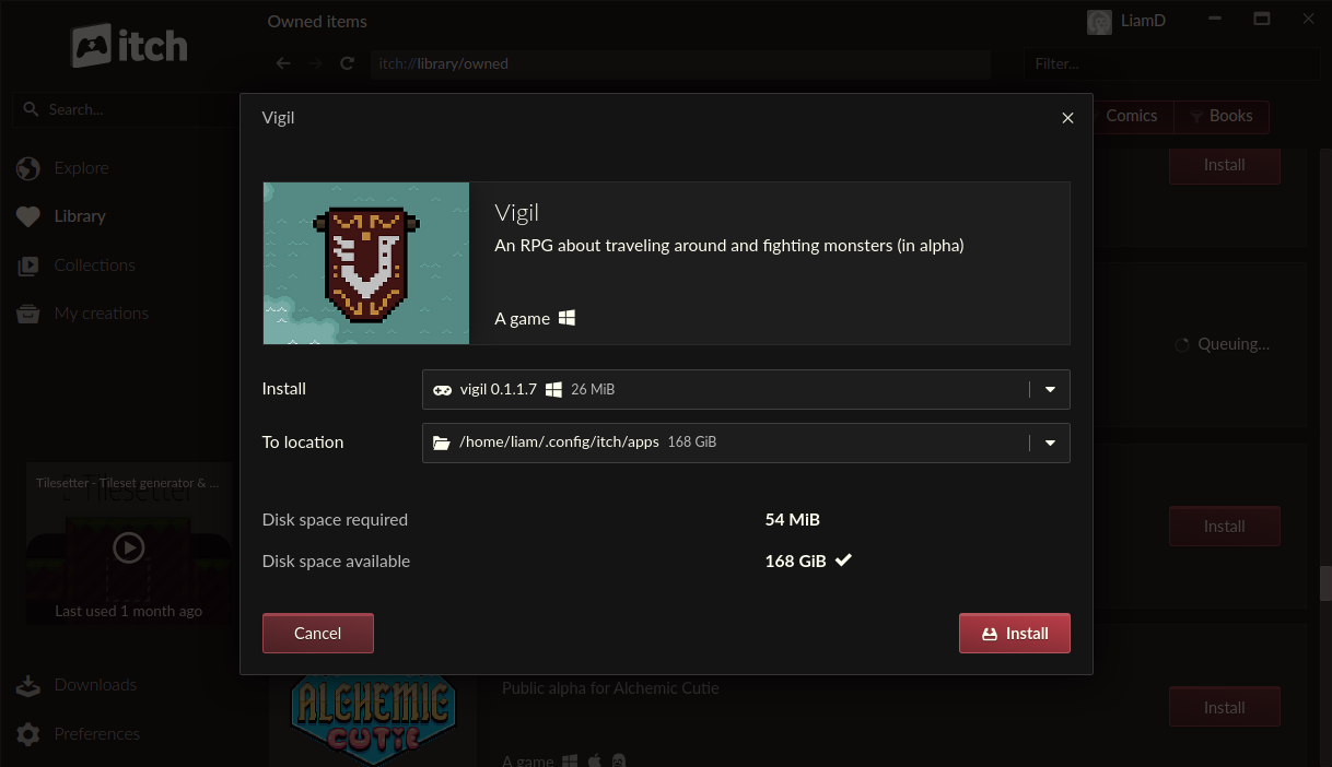 The Itch Io App Can Now Use A System Installed Wine On Linux For Windows Only Games Gamingonlinux