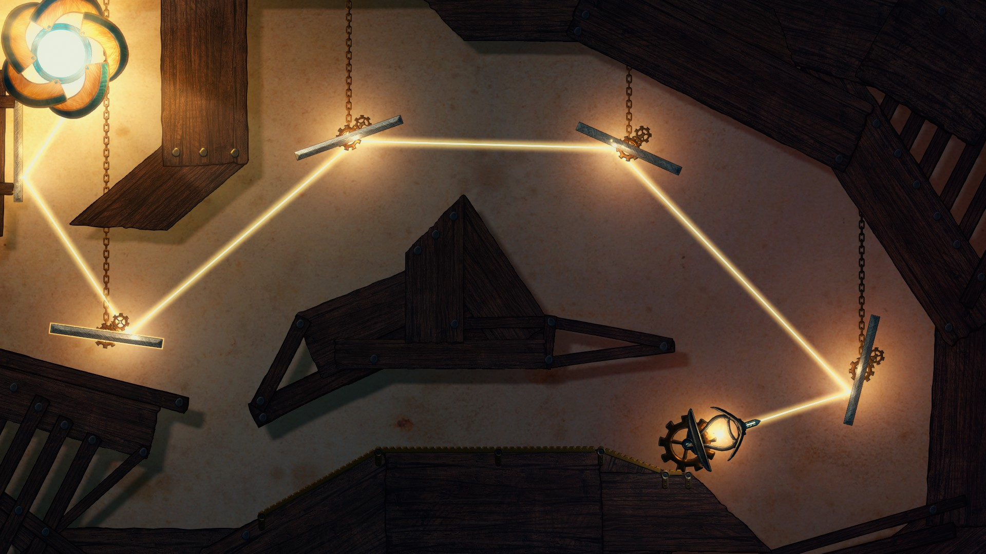 Experiment with light beams in the fantastic LIT: Bend the Light